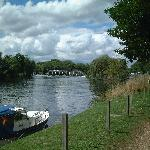 Bray Lock on River Thames at end of garden