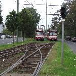 Trams close by