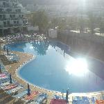 Get your sun bed early 9am