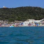  la spiaggia su cui affaccia il camping