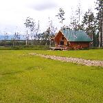 "View of the ""Elk"" Cabin from Mus cabin"