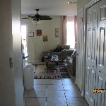 Entry down hall of condo