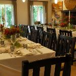Wedding dining area