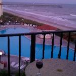 View of Villa Capriani pool & beach from unit #412A