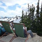 Lounging on top of Crystal Mtn.