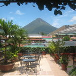 The terrace garden and The Arenal Volcano View