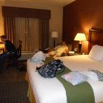Our room in the Holiday Inn Express