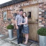  The happy couple on departure from The Hayloft