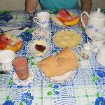  Our lovely breakfast - yummy!