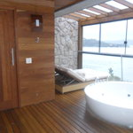 Sauna & jacuzzi in room