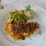 Snapper Imperial with red mashed taters & grilled veggies