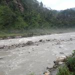  A shot of the River Bhagirathi (Ganga) from the dining tent