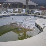 the swimming pool ……in winter