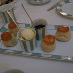 scones, cream, and jam