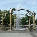 Fountain at the entrance of the park