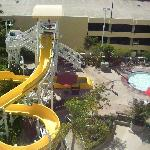 View of the Slide from our room