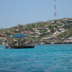  Looking back to the villa area from snorkel boat