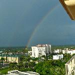 Double rainbow view from Ritz balcony