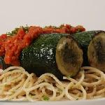 The stuffed zuccini