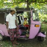 the tuk tuk is always parked in the villa for your use