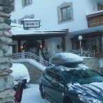 Hotel Entrance after big snowfall