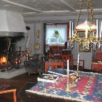 The lounge in the main house
