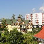 View of pension Diana from villa Dr. Szontagh, with hotel Atrium behind