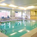 The indoor heated pool at the Fairfield Inn & Suites Beaumont.