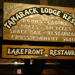 Lakefront Restaurant sign - Mammoth Lakes