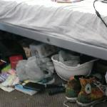 Shove your stuff under the bed
