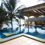  Glass Tile Infinity Pool/Palapa Area