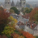 Medieval city of Loches and the Church of St-Ours