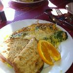 Veggie omelet at Martha's