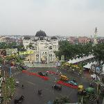View from window - mosque and Rhamadan festivities