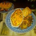 Egg fritata with sweet potato hashbrown and a homemade bisquit