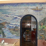  un mosaico  della sala ristorante