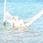 hammocks in sea on escape beach