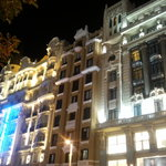 night in gran via - buildings