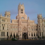 city hall madrid - sunset - early evening