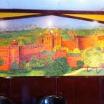 Mural depicting the Red Fort in old Delhi