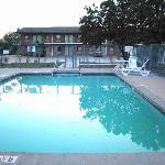 Motel 6 Salina Pool area across parking lot