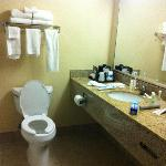 Bathroom of room at Country Inn and Suites on Vadnais Center.