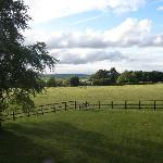 View from Hornbeam room over countryside