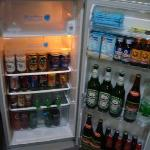 Amazingly well stocked minibar with really cheap beer