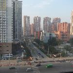  View from 8th floor apartment over Guangqumen Outer St