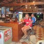 the bar, where you could eat, drink, listen to music and as you can see, watch footbal:)