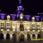 Town hall at night