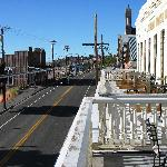 The balcony overlooking Main St.