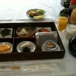 Traditional Japanese breakfast (missing bacon and egg)