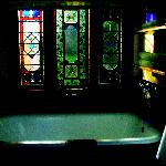Tub/room and stained glass